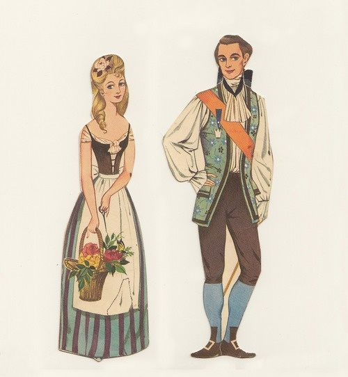 Cinderella paper dolls by Gordon Laite