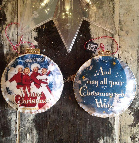 White Christmas Christmas Tree Decoration by SHERWOODMADEUK
