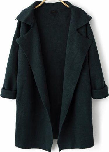 Shop Navy Lapel Long Sleeve Loose Knit Cardigan online. Sheinside offers Navy Lapel Long Sleeve Loose Knit Cardigan & more to fit your fashionable needs. Free Shipping Worldwide!
