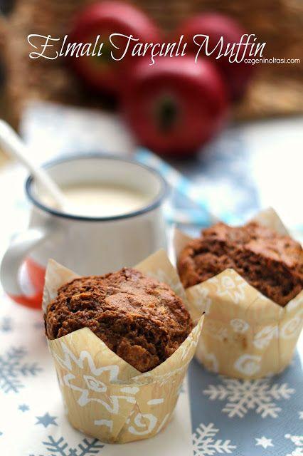 Elmalı Tarçınlı Muffinler  (Whole wheat apple muffins)