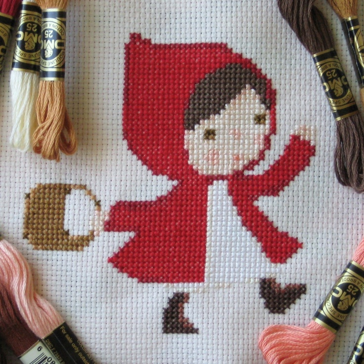 Red Riding Hood Cross Stitch Pattern. $3.50, via Etsy.