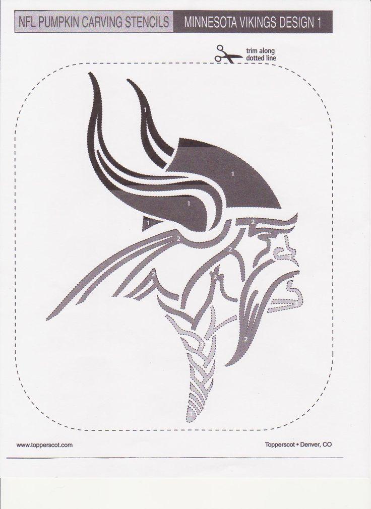 Minnesota vikings pumpkin stencil sport logos