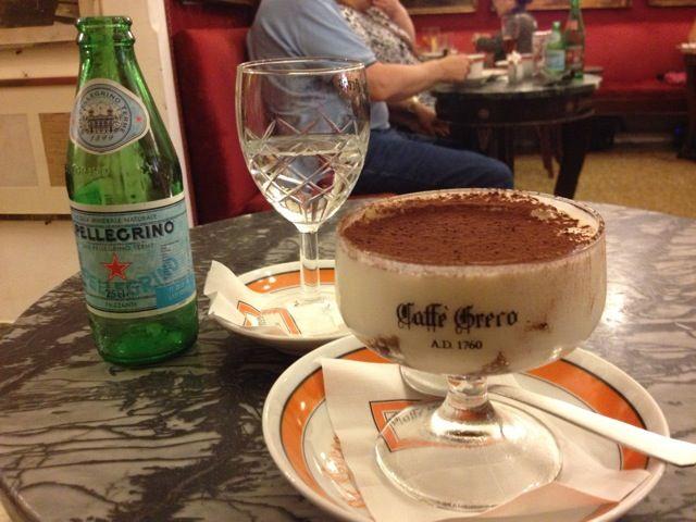Tiramisu at Cafe Greco, Rome