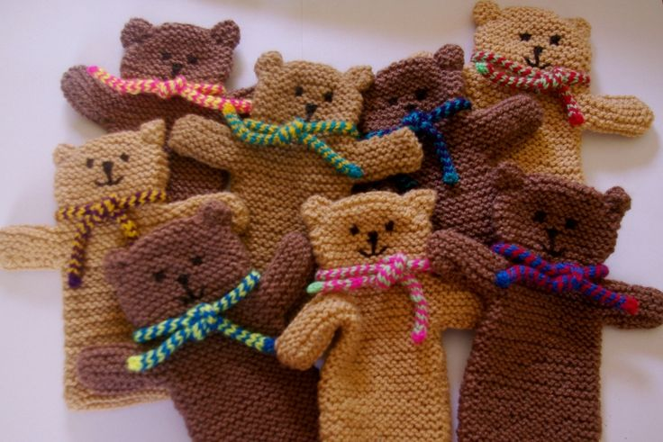 A selection of teddy puppets
