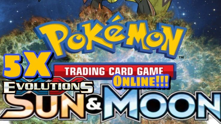 Pokemon TCG Online: 5x  Evolution packs and 1x Sun and Moon Pack