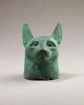 Head of a cat, 664–30 B.C. From Egypt. The Metropolitan Museum of Art, New York. Gift of Darius Ogden Mills, 1904 (04.2.468) #cats