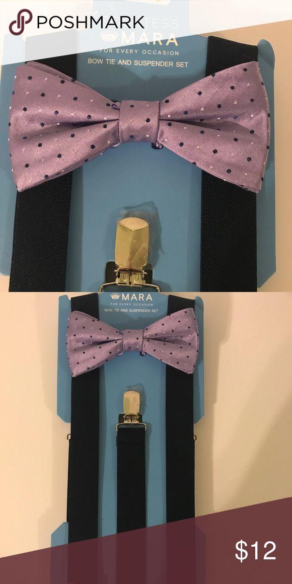 Countess Mara Bow tie and Suspender Set Countess Mara Purple & Navy Blue Suspender & bow tie set countess mara Accessories Suspenders