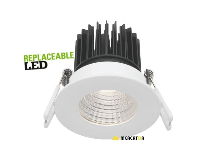 Mercator Gizmo 7w LED Downlight Fixed White COB Dimmable MD630W, $41.00