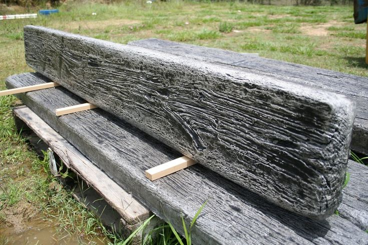 9 best images about railway sleeper ideas on pinterest for Concrete log forms