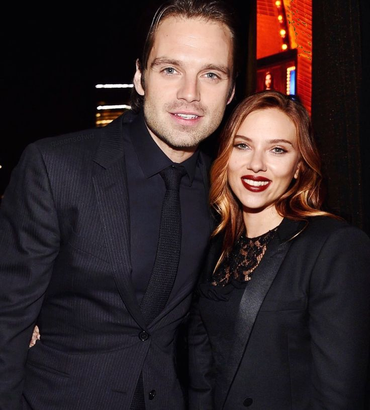 Seb and Scarlett - wow. i think my eyes just melted from the level of hotness radiating from this picture alone!