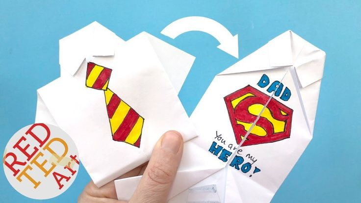 Easy Origami Shirt - How to Draw Superman Logo - Father's Day - collar R...