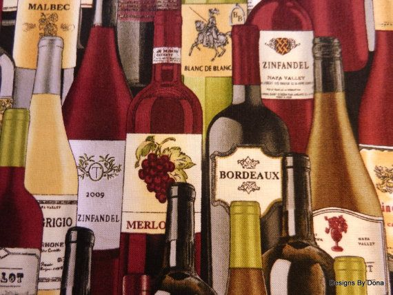 Fabric Different Wines Wine Bottles Stacked on a by DesignsByDona (Craft Supplies & Tools, Fabric, wine, wine bottles, wines, burgundy, Timeless Treasures, cotton fabric, supplies, Designs By Dona, sewing, one half yard, 1 half yard, different wines, quilt fabric)