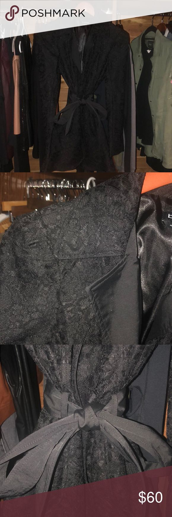 Black Pea Coat Black Bebe Pea coat. This coat is sooo adorable! Sheek or casual. Perfect for work or going out. Bebe Jackets & Coats Pea Coats