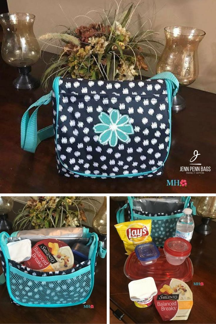 Going Places Thermal cross body or over the shoulder. Organize in style! Check this and other great organizing products at www.jennpennbags.com