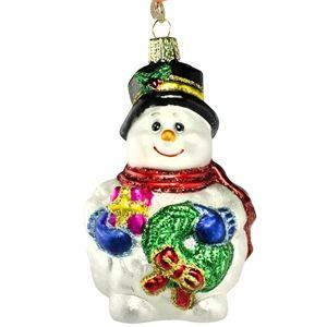 Lumpy Snowman Old World Christmas Glass Ornament Holiday Gift Idea