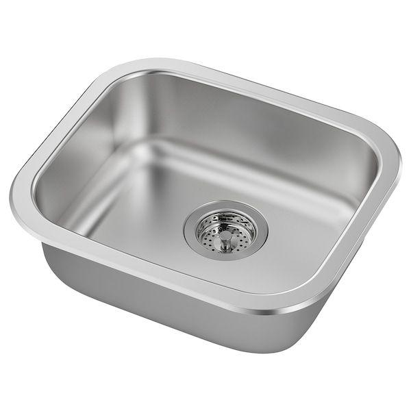 Fyndig Inset Sink 1 Bowl Stainless Steel 46x40 Cm In 2020