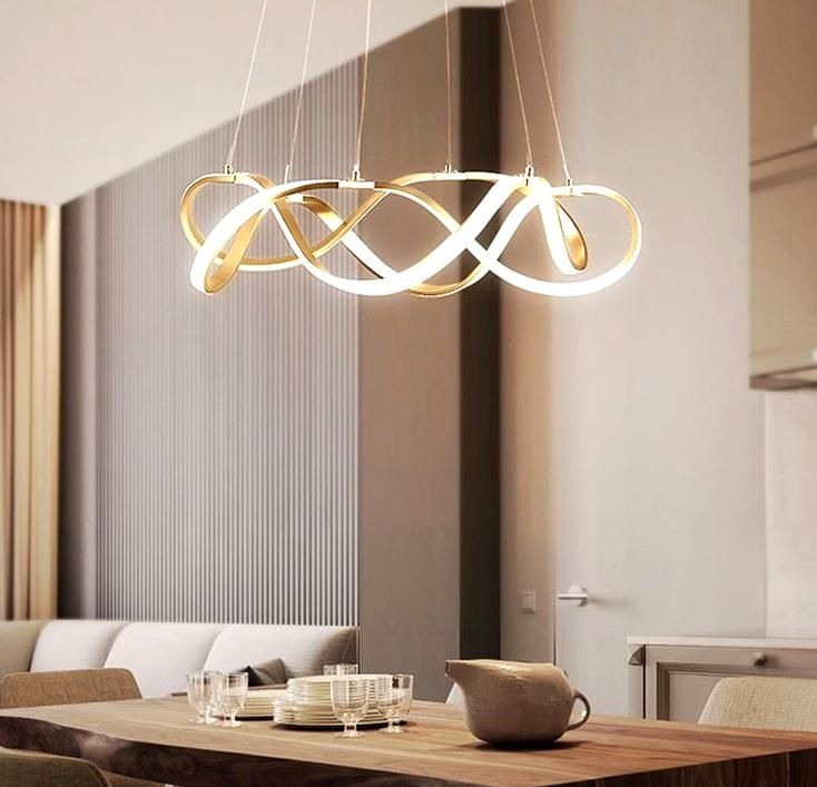 Modern Dimmable Led Chandelier Lighting Aluminum Living Room Led Pendant C In 2020 Dining Room Chandelier Modern Dining Light Fixtures Dining Room Lighting Chandeliers