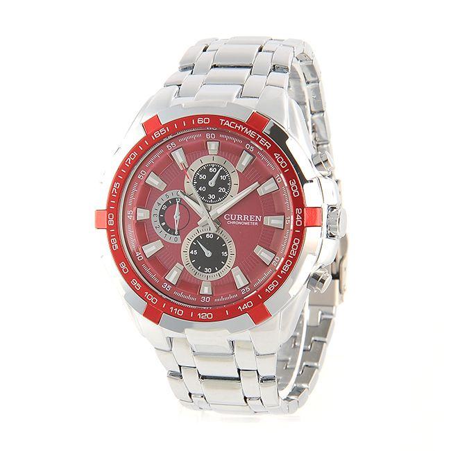 CURREN Stalowy zegarek męski Kwarcowy