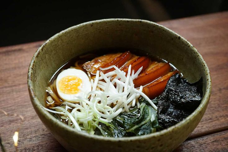 The essence of udon soup is a delicately flavoured dashi broth with chewy, slippery noodles.