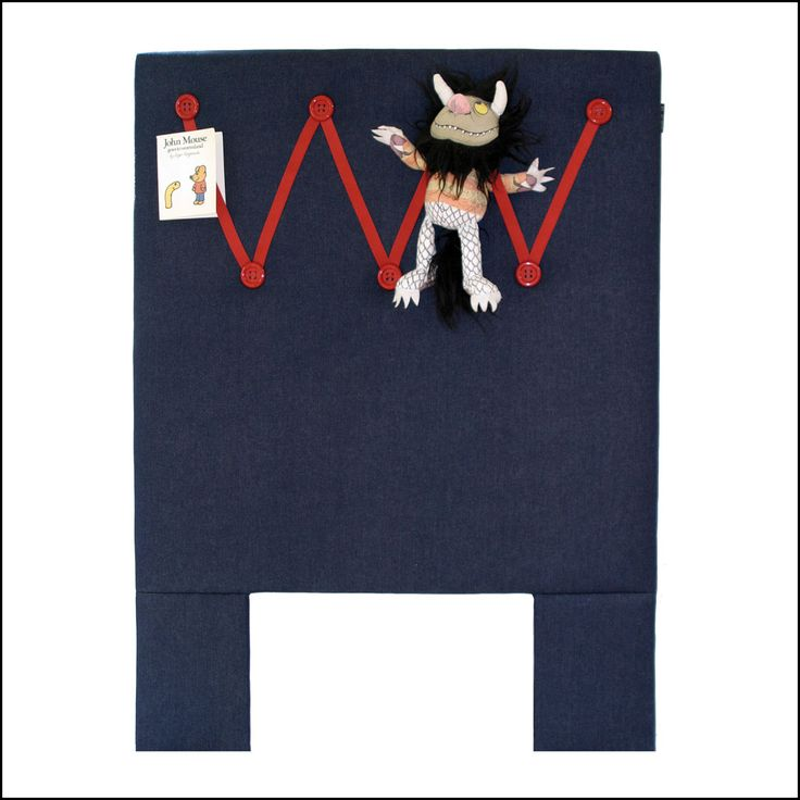 Children's Upholstered Bedhead : Playful modern living. Handmade. Available from www.flaunt.com.au