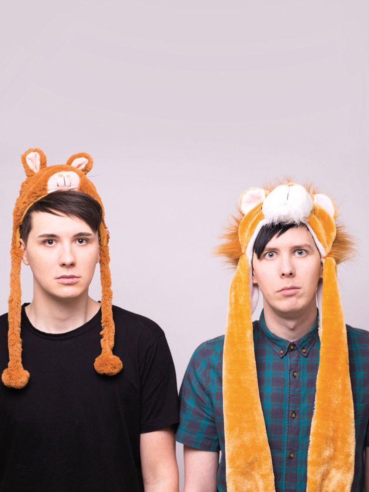 Dan And Phil//LOOK AT HOW SMALL DAN'S LLAMA HAT IS ON HIM.