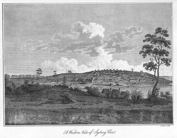 Western view of Sydney Cove.