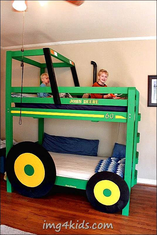 diy costumes for toddler boys | images of cool diy tractor bunk beds for your boys foto bedding on ...