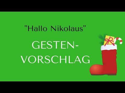 """""""HALLO NIKOLAUS"""" (mit Gesten) - YouTube"""