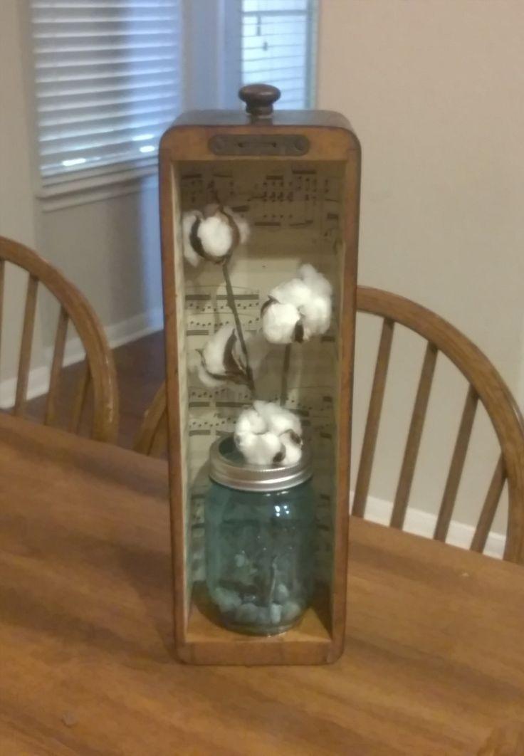 Repurposed sewing machine drawer :)
