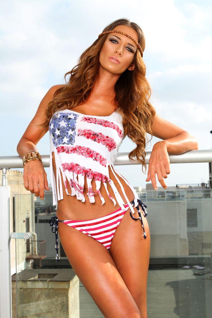 free to use flag bikini girls