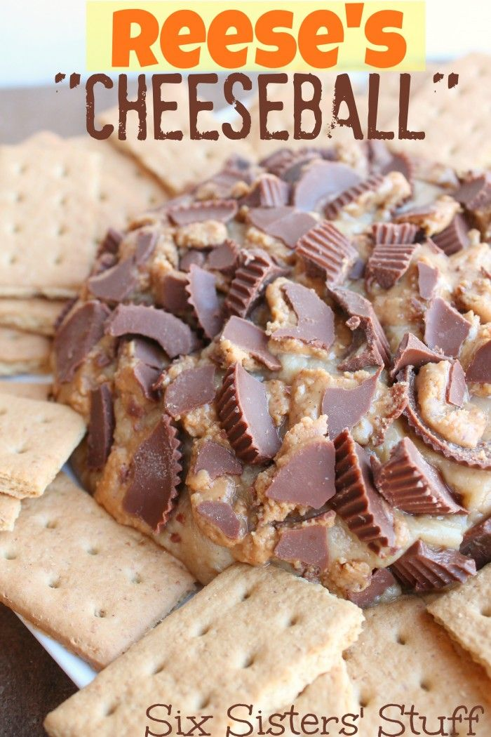 Reese's Cheeseball on SixSistersStuff.com - this is my kind of cheese ball!