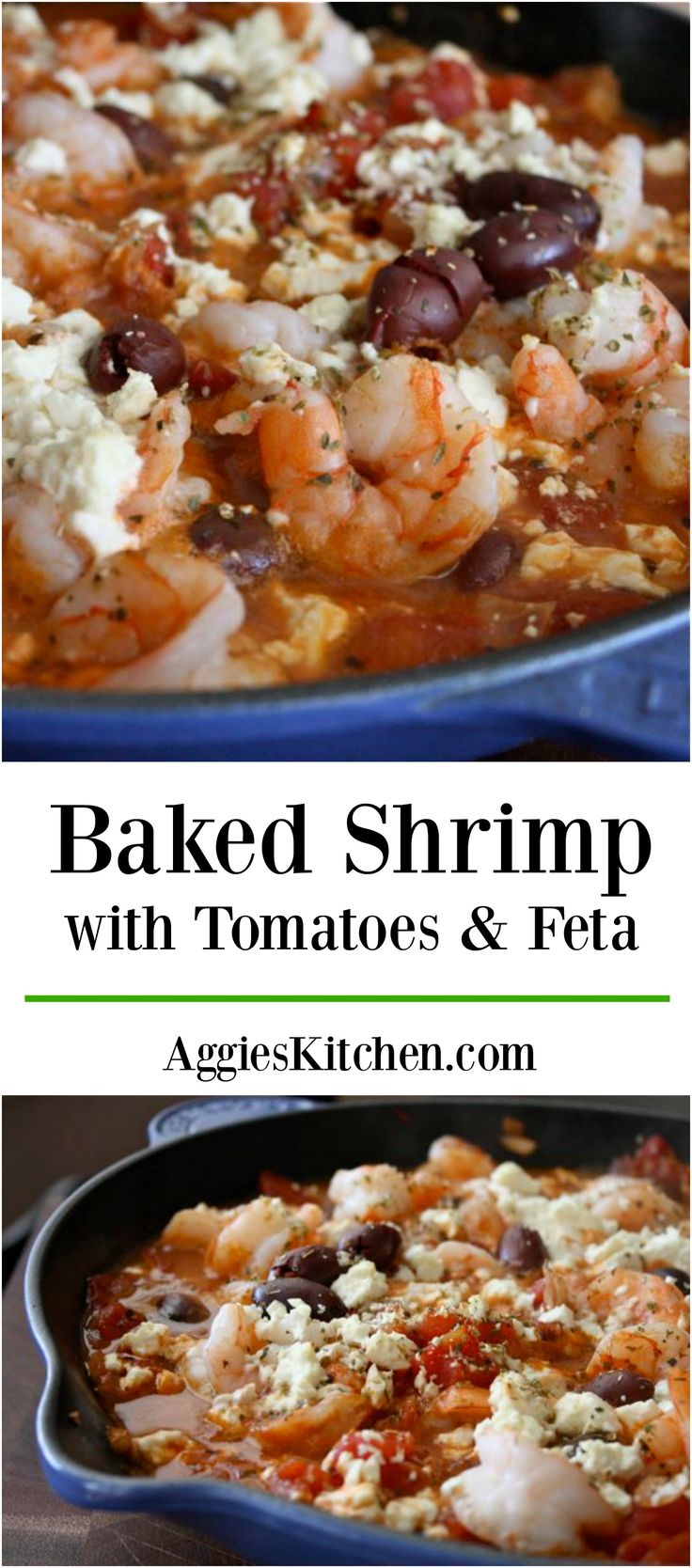Take your seafood to a whole new level with this Ellie Krieger's Baked Shrimp with Tomatoes and Feta dish. A healthy one-pan meal perfect for weeknights! Recipe via aggieskitchen.com