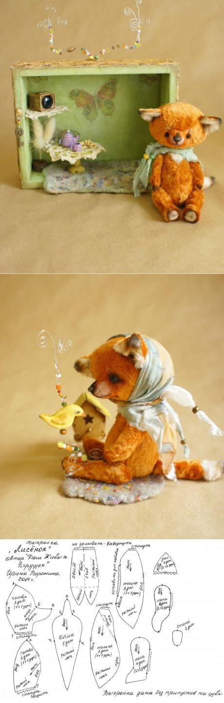 Выкройка Лисёнка в подарок - Ярмарка Мастеров - ручная работа, handmade