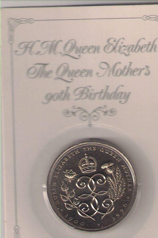 The Queen Elizabeth mother - 90 birthday - 1900-1990