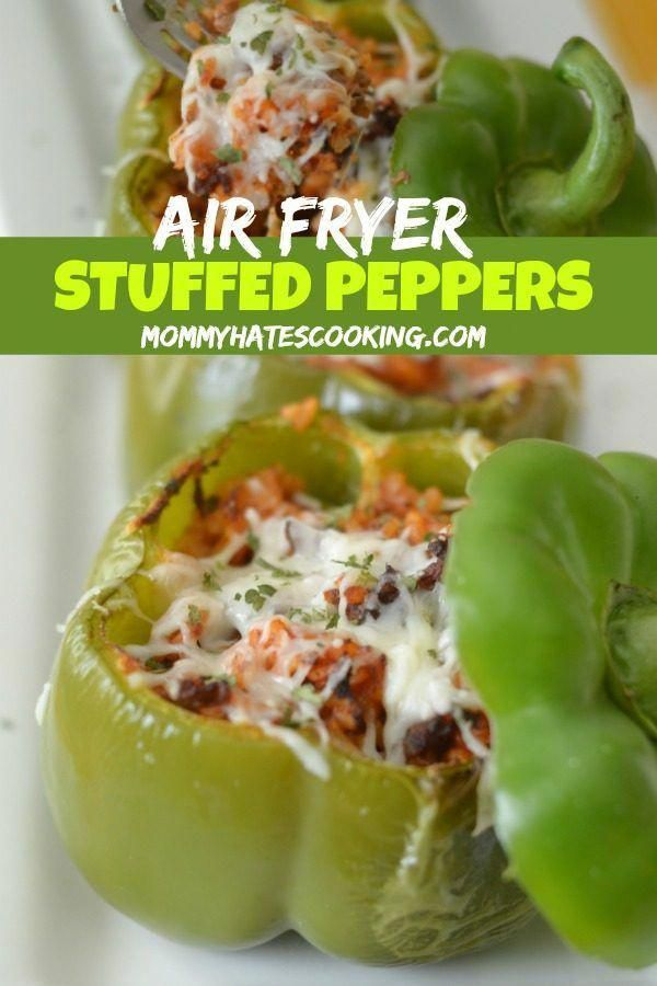 Air Fryer Stuffed Peppers Recipe In 2020 Stuffed Peppers Air Fryer Dinner Recipes Air Fryer Recipes Easy