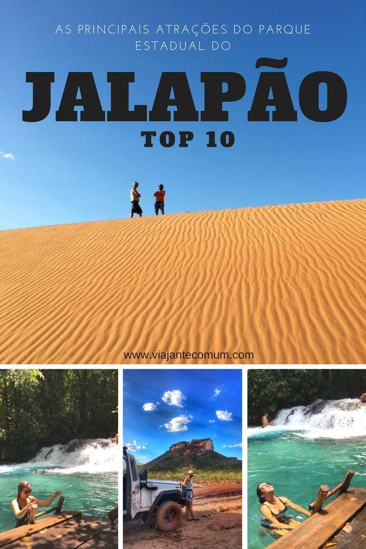 As principais atrações do parque estadual do Jalapão. Brasil.