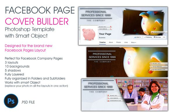 Check out Facebook Page Cover Builder by 8Link on Creative Market