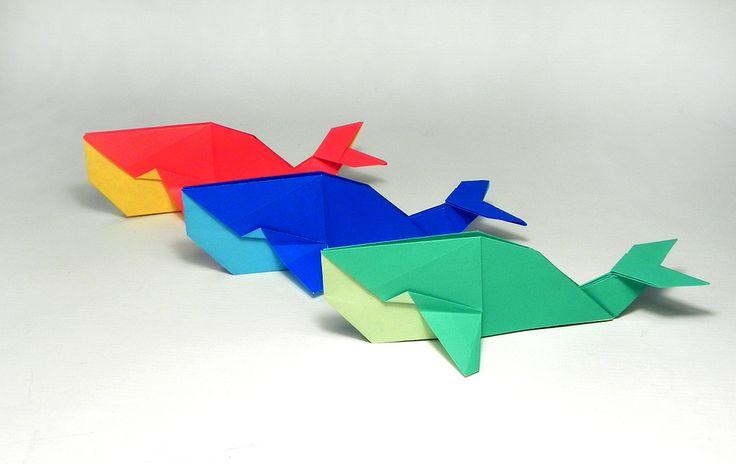 mini jardins orientais:Origami Whale