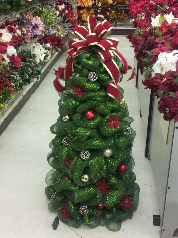 Deco Mesh Tree Christmas Pinterest Deco Mesh Mesh