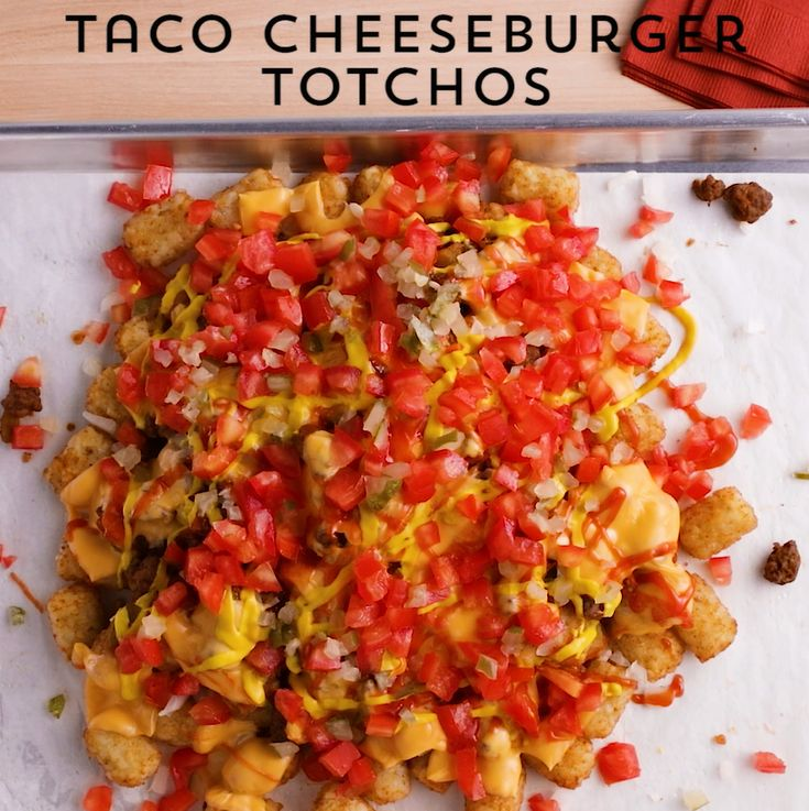 This mashup of cheeseburgers and nachos is an over-the-top, deliciously easy crowd-pleaser you'll make again and again. One sheet pan, one bag of tater tots, and all the right fixings for a shareable favorite. We promise the smell and taste will remind you of a childhood favorite while pumping it up for the perfect game day dish.