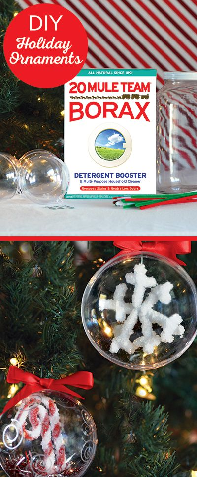 Looking for a fun family craft this holiday season? Try these DIY holiday ornaments made from all natural 20 Mule Team Borax!