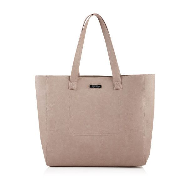Superdry Amelia Tote Bag (€51) ❤ liked on Polyvore featuring bags, handbags, tote bags, beige, brown tote bags, zippered tote bag, beige purse, zip purse and tote purses