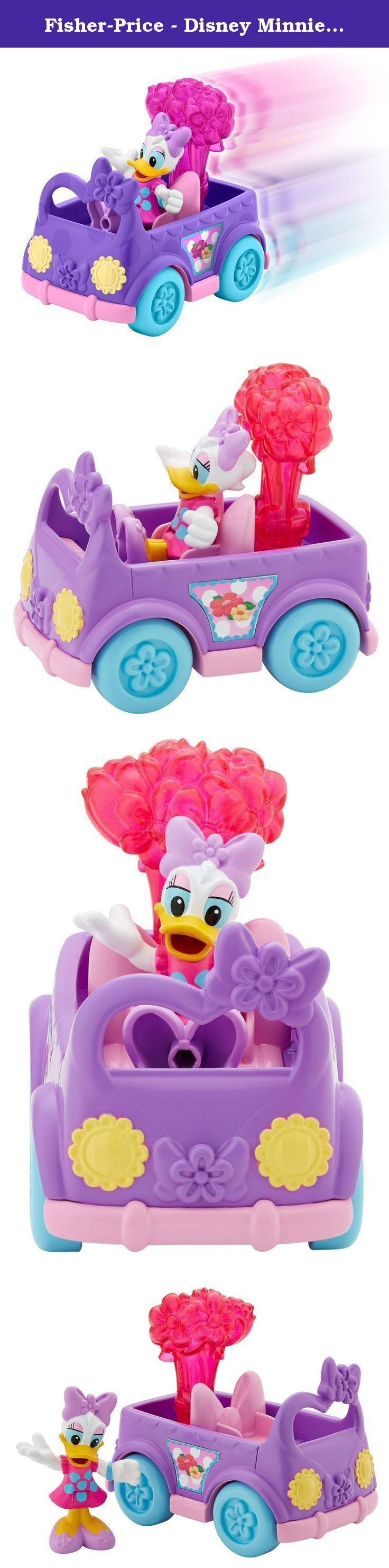 Fisher-Price - Disney Minnie Mouse - Darling Delivery Daisy. Time for Disney's Daisy duck to make all of her special deliveries! darling delivery Daisy is on her way to spruce up a party with a car full of flowers. Darling delivery Daisy comes with a flower power inspired vehicle and flower accessory. Bring daisy's friend Minnie along so she can decorate the party with her beautiful balloons! (sold separately and subject to availability).
