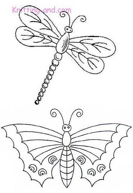 dragonfly and butterfly patterns