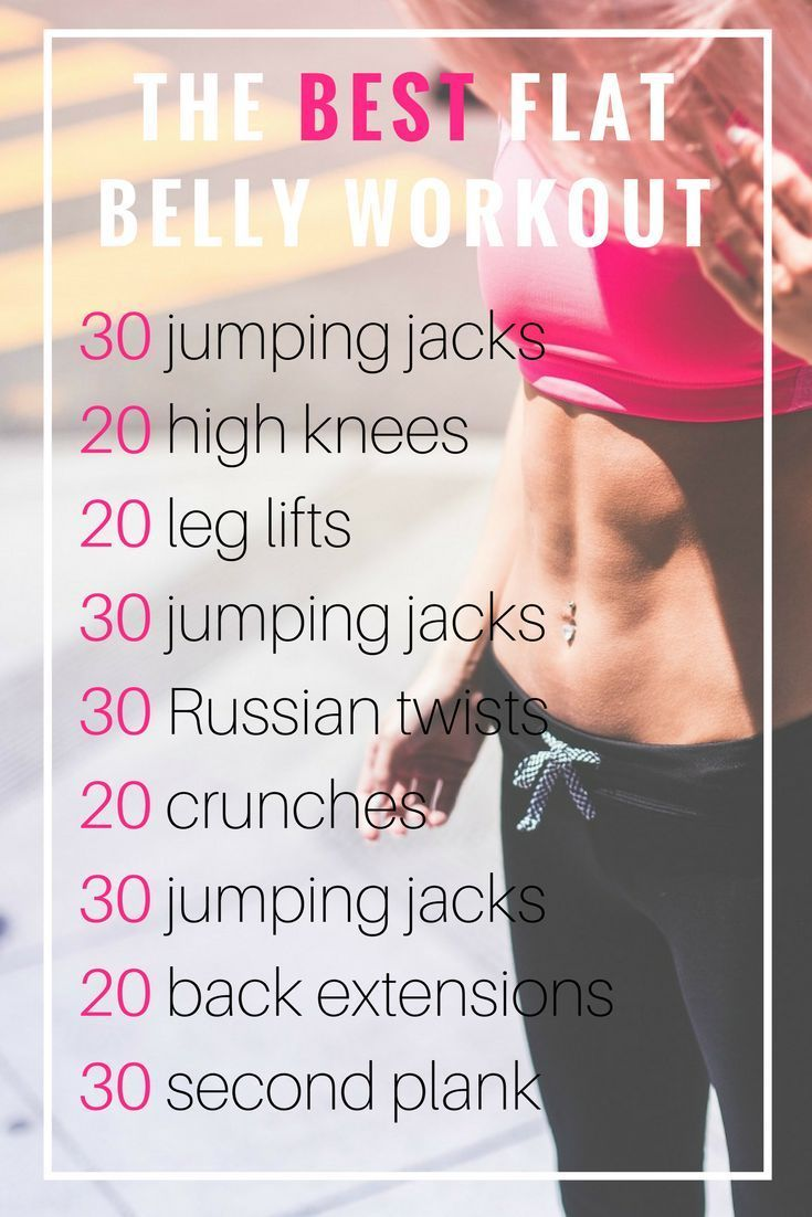 The Best Flat Belly Workout You Can Do at Home | No