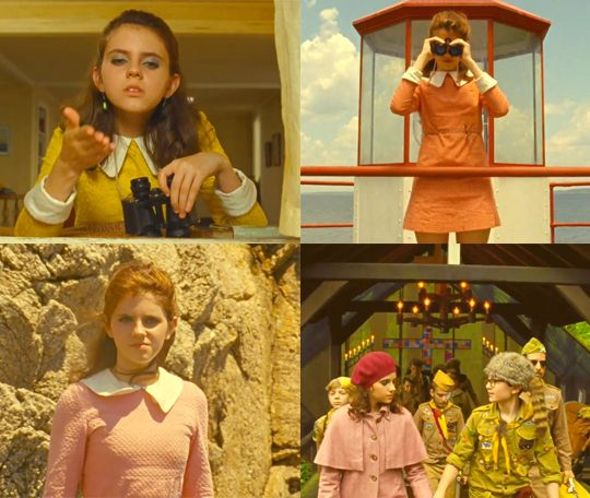 Suzy from 'Moonrise Kingdom'. Homegirls beret and capelet combo are right up my alley.