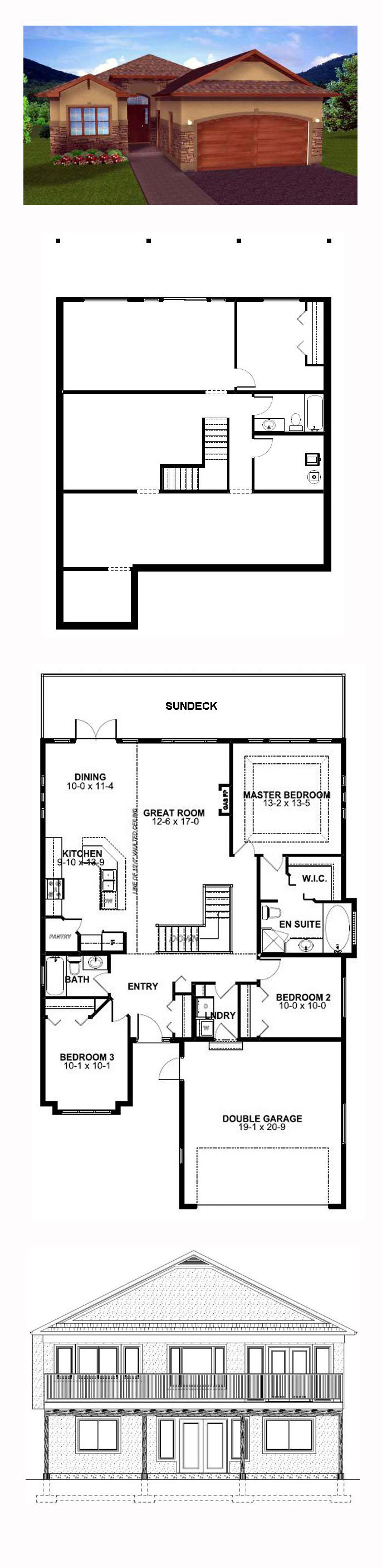 50 best Hillside Home Plans images on Pinterest | House floor plans ...