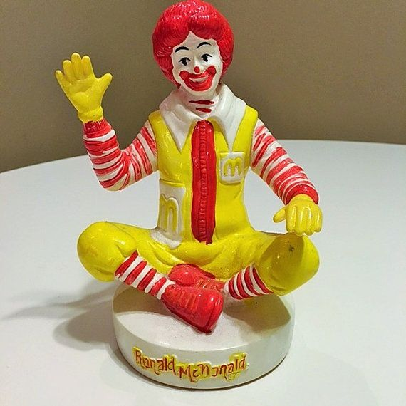 Extremely Rare Ronald McDonald Coin Bank by TheTeaberryCottage