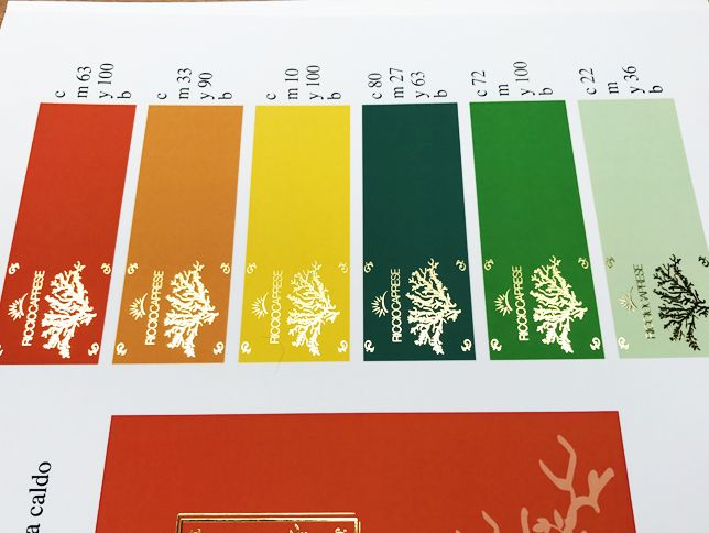 Etichette autoadesive stampa in digitale + softouc + laminatura in oro a caldo digitale