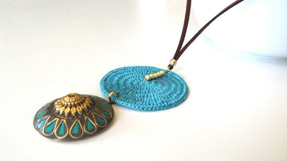 Check out this item in my Etsy shop https://www.etsy.com/listing/281676348/turquoise-long-necklace-with-pendant